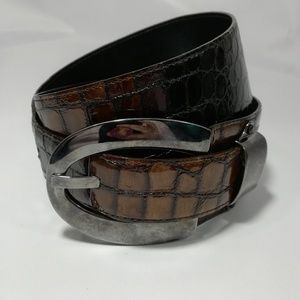 Carlisle Brown Leather Belt Size M